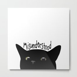 Black Cat Misunderstood Metal Print