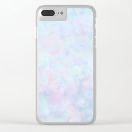 Rainbow Unicorn Pastel Fluffiness Clear iPhone Case