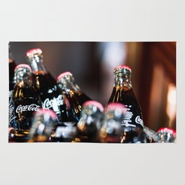 Glass Coca Cola Bottles Rug