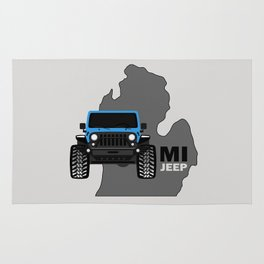 MICHIGAN 'JEEP' BLUE Rug