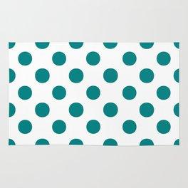 Polka Dots (Teal/White) Rug