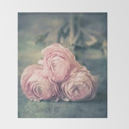 Lovely Ranunculus Throw Blanket