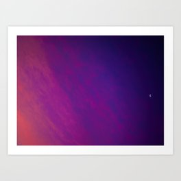 Colored Moon Art Print