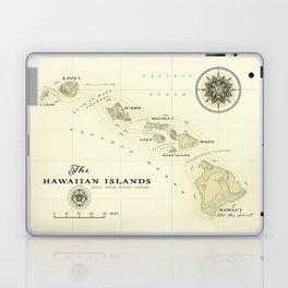 Hawaiian Islands [vintage inspired] map print Laptop & iPad Skin