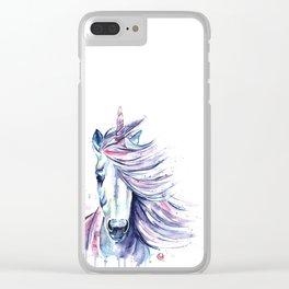 Unicorn - Gust Clear iPhone Case