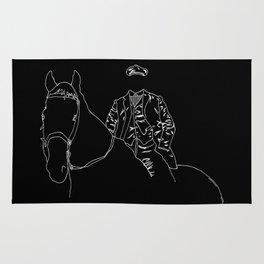 Horse and Fashion Noir Rug