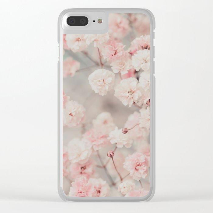 Gypsophila pink blush Clear iPhone Case