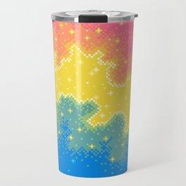 Pan Pride Flag Galaxy Travel Mug