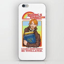 Reading is Edu-Bation iPhone Skin