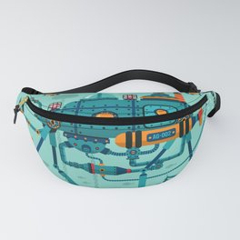 Cute Colorful Robot Underwater Scene Fanny Pack