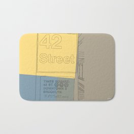 42nd Street NYC Subway Bath Mat