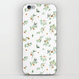 orange - subtle pattern iPhone Skin