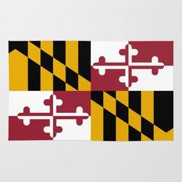 Maryland State Flag, Hi Def image Rug