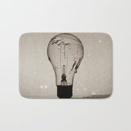 Light-bulb splash Bath Mat