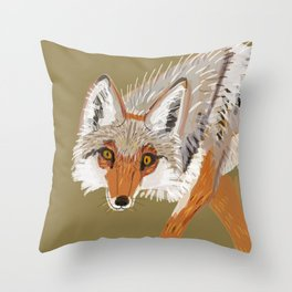 Totem Coyote Throw Pillow