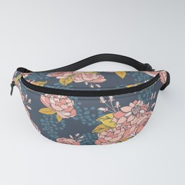 Moody Florals - Blue + Pink Fanny Pack