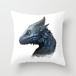 Sapphire Dragon Throw Pillow
