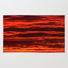 fiery sunset Rug
