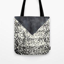 Black ivory confetti watercolor geometrical Tote Bag