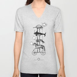The fabulous story of a very unnatural carousel of wild animals Unisex V-Neck