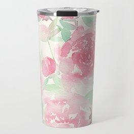 Pink Peonies Travel Mug