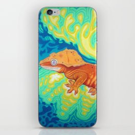 Red Crested Gecko iPhone Skin