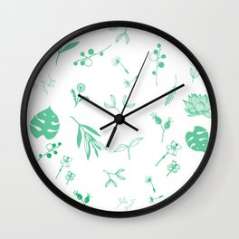 Green Garden Wall Clock