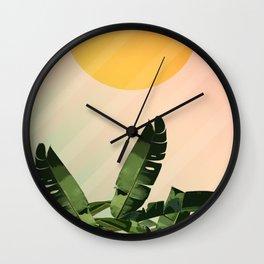 Sunny heliconia Wall Clock