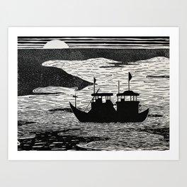 Disputed Waters Art Print