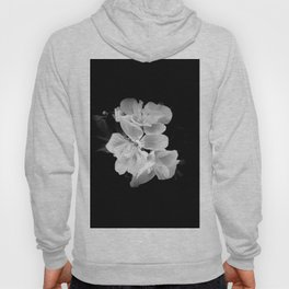 geranium in bw Hoody