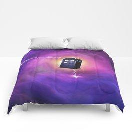 tardis in a black hole Comforters