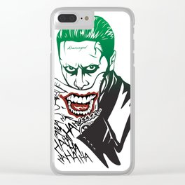 Joker_Jared Leto_Suicide Squad Clear iPhone Case
