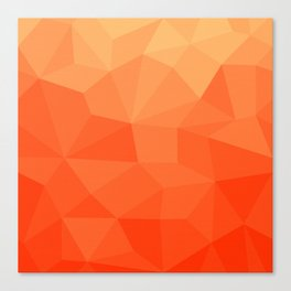 Abstract Geometric Gradient Pattern between Pure Red and very light Orange Canvas Print