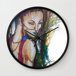 Reflection in Chains Wall Clock