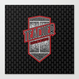 Teacher Shield Canvas Print