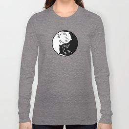 Cute cats Yin Yang sign Long Sleeve T-shirt