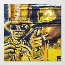 Steet Art in Yellow Canvas Print