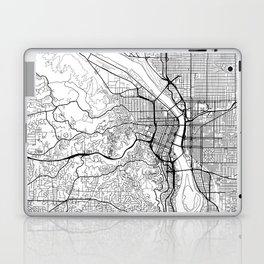 Portland Map White Laptop & iPad Skin