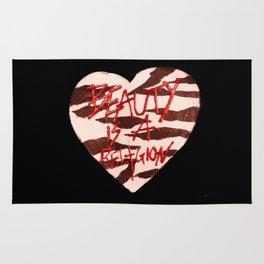 BeautyIsAReligion `ZEBRA HEART` Rug