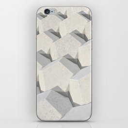 Pattern of concret hexagonal elements iPhone Skin