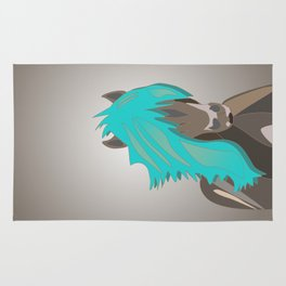 The Horse with the Turquoise Mane Rug