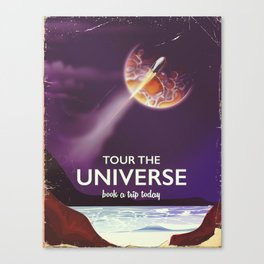 Tour the universe space travel poster Canvas Print