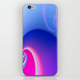 Ride the Wave (purple) iPhone Skin