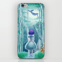 Girl under the sea iPhone Skin