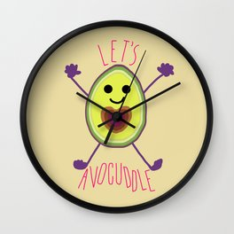 Let's Avocuddle AVOCADO Wall Clock