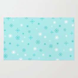 AFE Turquoise Snowflakes Rug