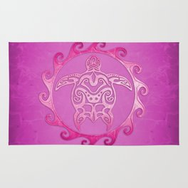 Pink Tribal Turtle Sun Rug