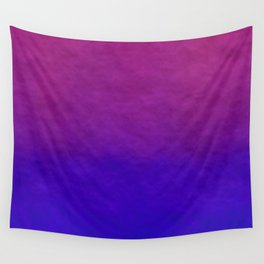 Deep Magenta Purple Ombre Watercolor Wall Tapestry