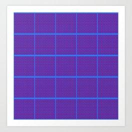 irregular and regular tile Art Print