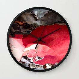 Ruby between the Rocks Wall Clock